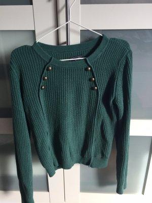 Abercrombie & Fitch Maglione lavorato a maglia verde bosco-verde