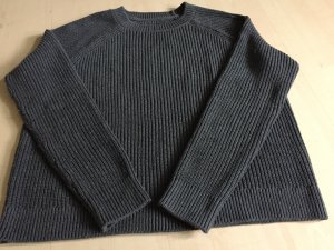 Abercrombie & Fitch Coarse Knitted Sweater dark grey