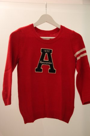 Abercrombie & Fitch Pullover Gr. XS Rot