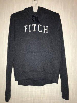 Abercrombie & Fitch Maglione con cappuccio bianco-blu scuro
