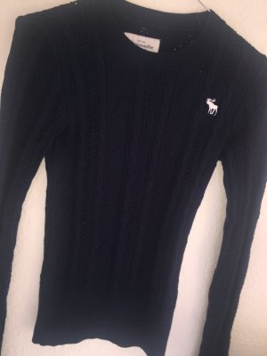 Abercrombie & Fitch Pullover Strickpullover XS dunkelblau Klassiker