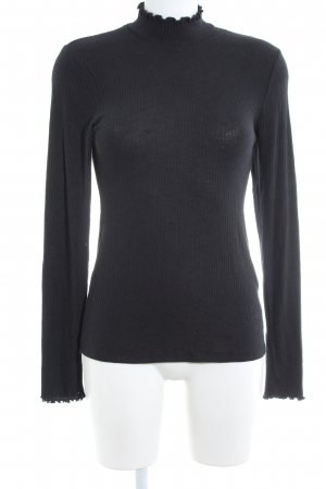 Abercrombie & Fitch Ribbed Shirt black business style