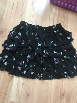 Abercrombie & Fitch Broomstick Skirt black