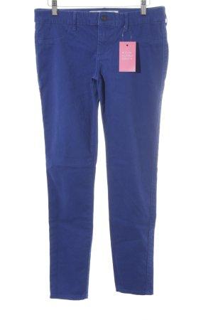 Abercrombie & Fitch Pantalon cigarette bleu style décontracté