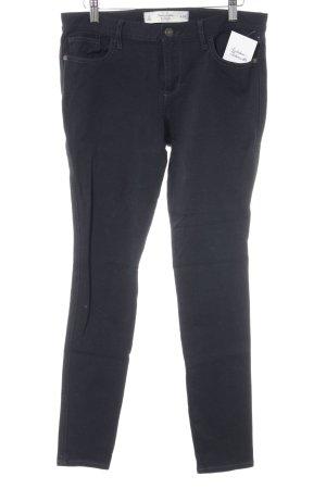 Abercrombie & Fitch Pantalon cigarette bleu foncé style décontracté