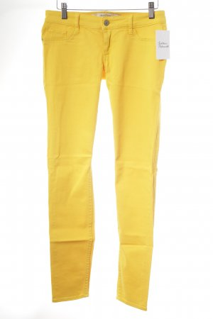 Abercrombie & Fitch Drainpipe Trousers gold orange casual look