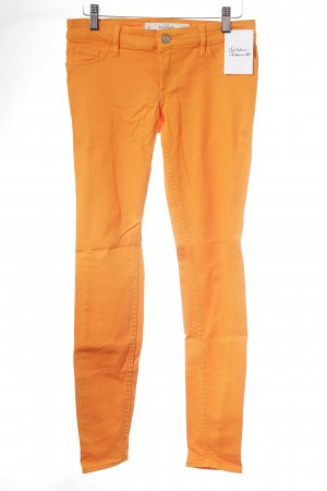Abercrombie & Fitch Röhrenhose orange Schimmer-Optik