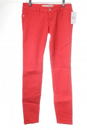 Abercrombie & Fitch Drainpipe Trousers red casual look
