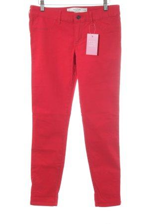 Abercrombie & Fitch Pantalon cigarette rouge style décontracté