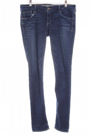 Abercrombie & Fitch Röhrenjeans blau Washed-Optik