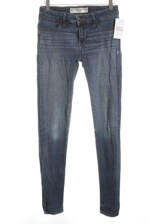 Abercrombie & Fitch Röhrenjeans kornblumenblau Jeans-Optik