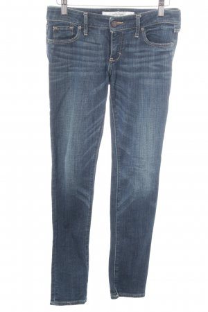 Abercrombie & Fitch Röhrenjeans weiß-dunkelblau Casual-Look