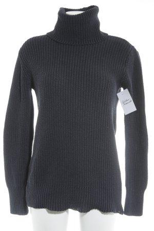 Abercrombie & Fitch Turtleneck Sweater dark blue casual look