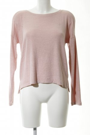 Abercrombie & Fitch Rundhalspullover pink meliert Casual-Look