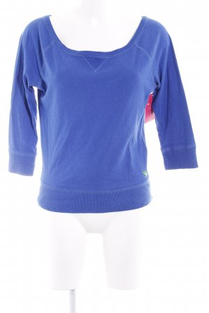 Abercrombie & Fitch Rundhalspullover blau Casual-Look