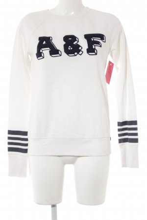 Abercrombie & Fitch Rundhalspullover creme-dunkelblau Casual-Look