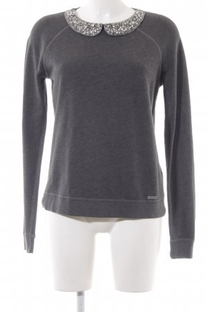 Abercrombie & Fitch Kraagloze sweater donkergrijs casual uitstraling