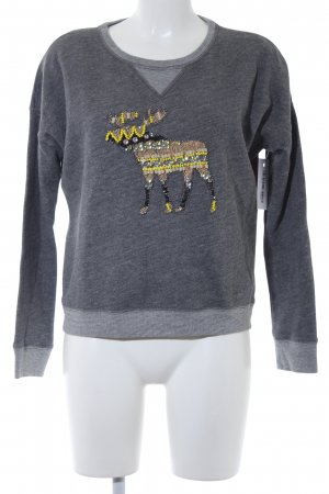 Abercrombie & Fitch Rundhalspullover grau meliert Casual-Look