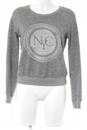 Abercrombie & Fitch Rundhalspullover grau Motivdruck Casual-Look