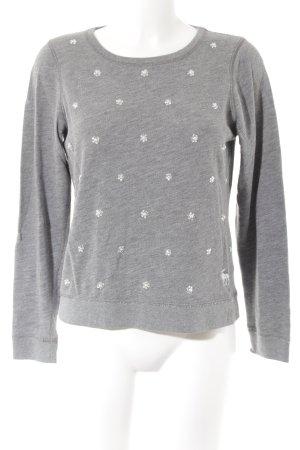 Abercrombie & Fitch Rundhalspullover grau-silberfarben Casual-Look