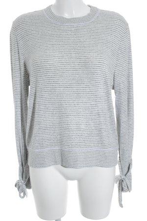 Abercrombie & Fitch Rundhalspullover grau-wollweiß Streifenmuster Casual-Look