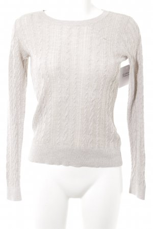 Abercrombie & Fitch Rundhalspullover hellbeige Casual-Look