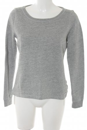 Abercrombie & Fitch Crewneck Sweater light grey-grey simple style