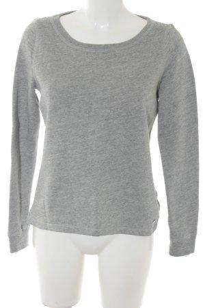 Abercrombie & Fitch Kraagloze sweater lichtgrijs-grijs simpele stijl