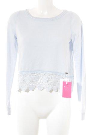 Abercrombie & Fitch Rundhalspullover himmelblau schlichter Stil