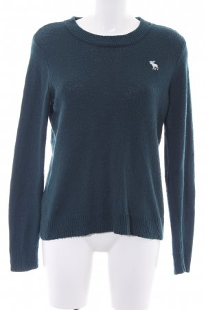 Abercrombie & Fitch Rundhalspullover petrol Casual-Look