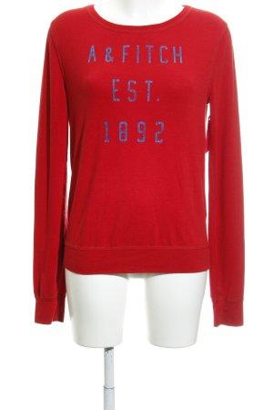 Abercrombie & Fitch Maglione girocollo rosso stile casual