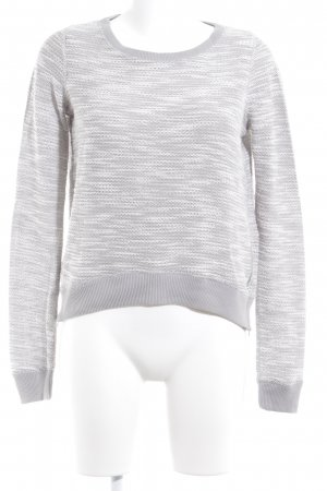 Abercrombie & Fitch Kraagloze sweater Webpatroon casual uitstraling