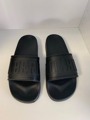 Abercrombie & Fitch Sandals black synthetic material
