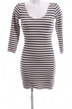 Abercrombie & Fitch Tube Dress black-white striped pattern casual look
