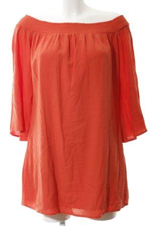 Abercrombie & Fitch Off-The-Shoulder Dress dark orange elegant