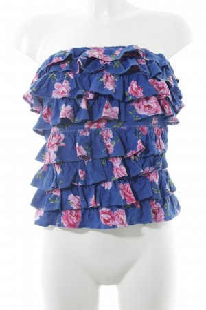 Abercrombie & Fitch Top sin hombros estampado floral Estilo playero