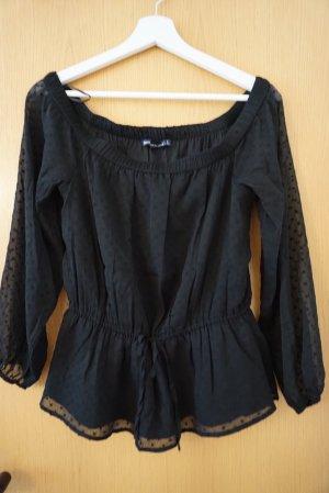 Abercrombie & Fitch Top épaules dénudées noir
