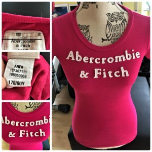 Abercrombie & Fitch Shirt Gr.34/36 Pink Baumwolle