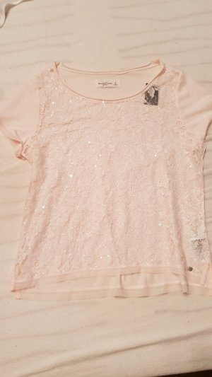 Abercrombie & Fitch Mesh Shirt pink-light pink