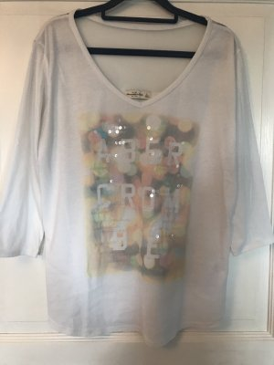 Abercrombie & Fitch Shirt weiß pastell Gr. L