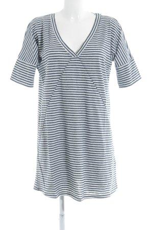 Abercrombie & Fitch Shirtkleid weiß-graublau Streifenmuster Casual-Look