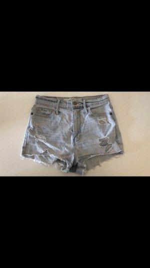 Abercrombie & Fitch High-Waist-Shorts azure