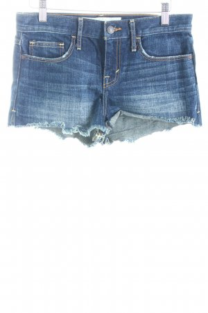 Abercrombie & Fitch Shorts dunkelblau Destroy-Optik