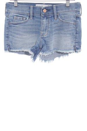 Abercrombie & Fitch Shorts kornblumenblau Farbverlauf Casual-Look