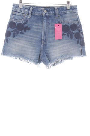 Abercrombie & Fitch Shorts stahlblau Used-Optik
