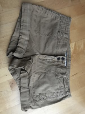 Abercrombie & Fitch Short Trousers bronze-colored cotton