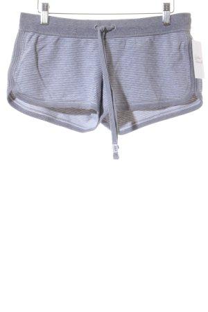 Abercrombie & Fitch Shorts weiß-grau Streifenmuster Casual-Look