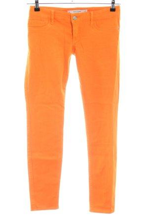 Abercrombie & Fitch Jeans skinny arancione chiaro stile casual
