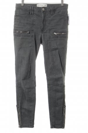 Abercrombie & Fitch Skinny Jeans anthrazit Skater-Look