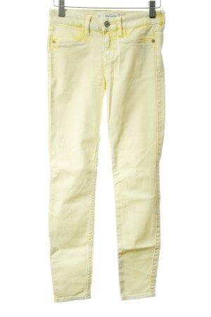 Abercrombie & Fitch Skinny Jeans blassgelb Batikmuster Casual-Look